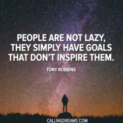 People are not lazy. They simply have goals that don't inspire them