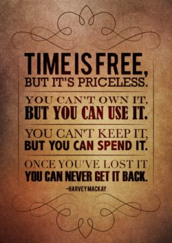Time is free, but it's priceless. You can't own it, but you can use it. You can&#821 ...