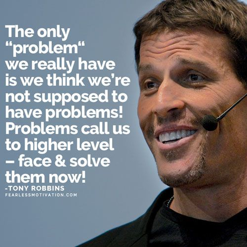 "The only ""problem"" we really have is we think we're not supposed to have probl ..."