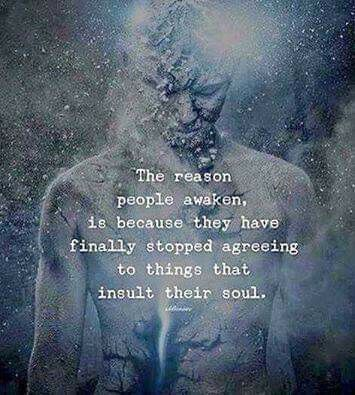 The reason people awaken is because they have finally stopped agreeing to the things that insult ...