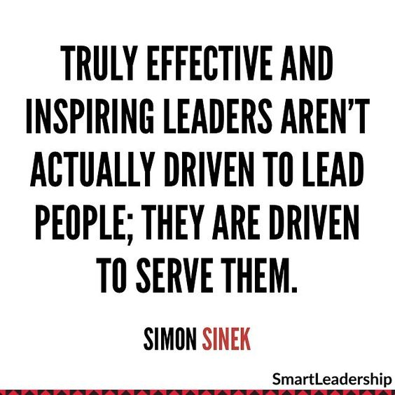 Truly effective and inspiring leaders aren't actually driven to lead people. They are driv ...