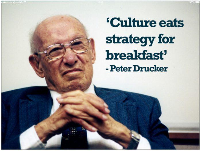Culture eats strategy for breakfast – Peter Drucker