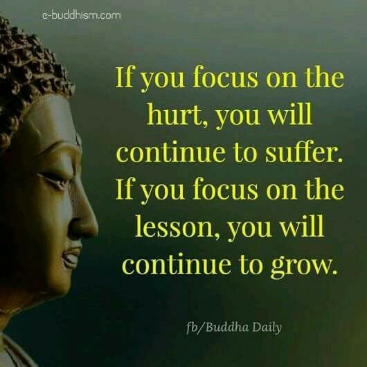 If you focus on the hurt, you will continue to suffer. If you focus on the lesson, you will cont ...