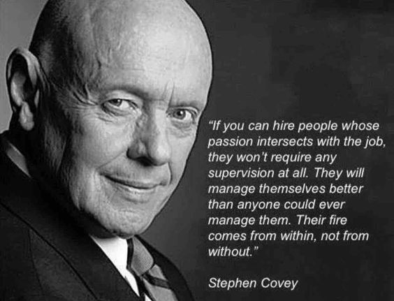 If you can hire people whose passion intersects with the job, they won't require any super ...