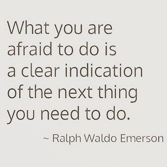 What you are afraid to do is a clear indication of the next thing you need to do.  – Ralph ...